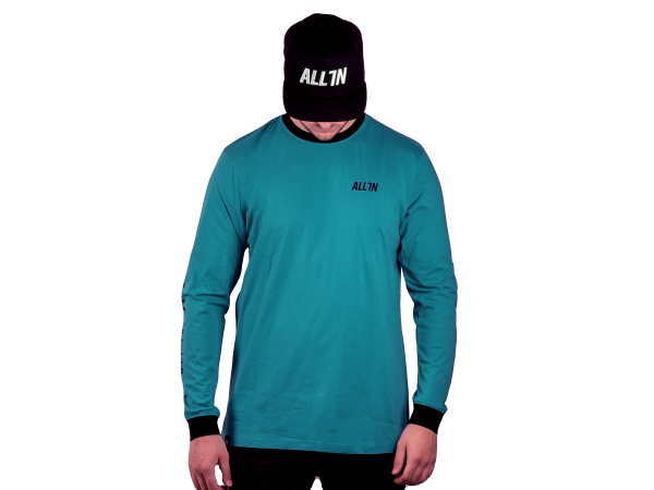 ALL IN Pushing The Limits Longsleeve turquoise/black
